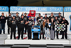 March 1, 2019 - Las Vegas, Nevada, U.S. - LAS VEGAS, NV - MARCH 01: Kyle Busch (51) KBM Toyota Tundra celebrates in Victory Lane after the Gander Outdoors Truck Series Strat 200 race on March 1, 2019, at Las Vegas Motor Speedway in Las Vegas, NV. (Photo by David Allio/Icon Sportswire) (Credit Image: © David Allio/Icon SMI via ZUMA Press)