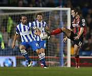 AFC Bournemouth striker Yann Kermorgant during the Sky Bet Championship match between Brighton and Hove Albion and Bournemouth at the American Express Community Stadium, Brighton and Hove, England on 10 April 2015.