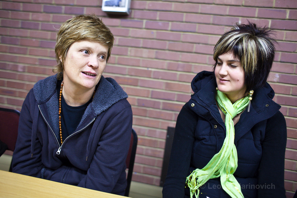 9 June 2009, Kerry Frizelle and Tarryn Nell, fellows of the MAC AIDS Fund Leadership Initiative attend a visit to the University of Pretoria, Centre for the Study of AIDS. Hammanskraal, South Africa.