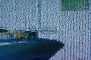 Image of a boat reflection at the Port of Tacoma, Washington, Pacific Northwest