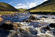 Clunie Water River in Glen Clunie, Perthshire, Scotland