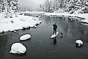 """Winter SUP on the Truckee River 7"" - Peter Spain Stand Up Paddleboarding on the Truckee River"