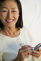 Woman using PDA