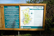 Map and information board, Island of Herm, Channel Islands, Great Britain