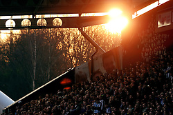 A general view as the sun sets behind the St Johns Stadium  - Mandatory by-line: Matt McNulty/JMP - 18/02/2017 - FOOTBALL - The John Smith's Stadium - Huddersfield, England - Huddersfield Town v Manchester City - Emirates FA Cup fifth round