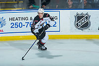 KELOWNA, CANADA - MARCH 18: Kaleb Bulych #25 of the Vancouver Giants skates against the Kelowna Rockets  on March 1, 2018 at Prospera Place in Kelowna, British Columbia, Canada.  (Photo by Marissa Baecker/Shoot the Breeze)  *** Local Caption ***