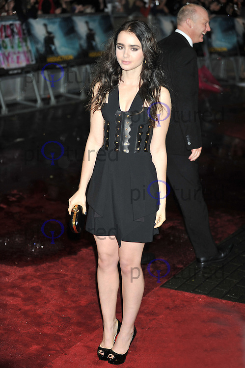 Lily Collins Abduction UK Premiere, BFI IMAX, Waterloo, London, UK. 26 September 2011 Contact: Rich@Piqtured.com +44(0)7941 079620 (Picture by Alan Roxborough)