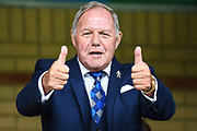 Thumbs up from Peterborough United Director of Football Barry Fry during the EFL Sky Bet League 1 match between Wycombe Wanderers and Peterborough United at Adams Park, High Wycombe, England on 5 October 2019.