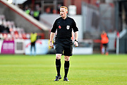 Referee Alan Young during the EFL Sky Bet League 2 match between Exeter City and Cheltenham Town at St James' Park, Exeter, England on 16 November 2019.