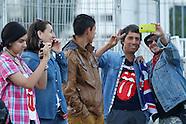 Chile, Fanáticos de los Rollings Stones esperando para el concierto
