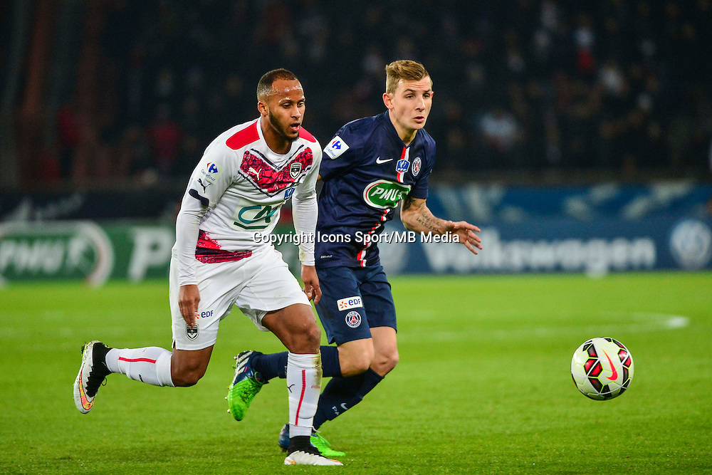 Thomas TOURE / Lucas DIGNE - 21.01.2015 - Paris Saint Germain / Bordeaux - Coupe de France<br /> Photo : Dave Winter / Icon Sport