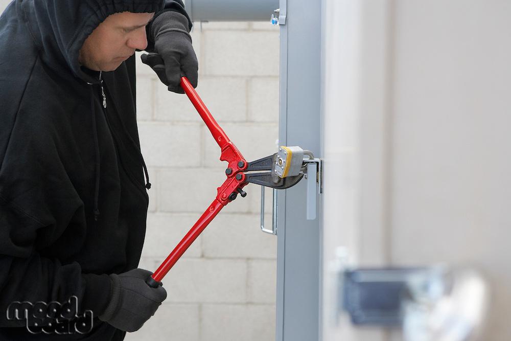 Thief cutting lock