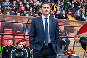Leyton Orient manager Ian Hendon during the Sky Bet League 2 match between Leyton Orient and Oxford United at the Matchroom Stadium, London, England on 17 October 2015. Photo by Bennett Dean.