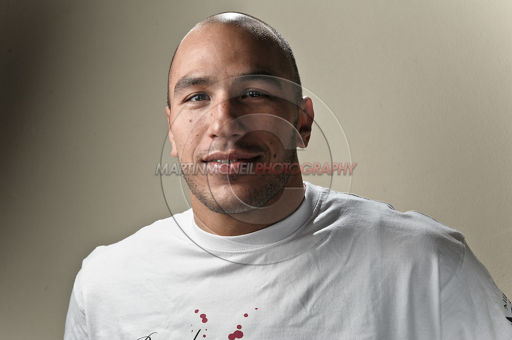 "A portrait of mixed martial arts athlete Brandon ""The Truth"" Vera"