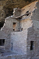 Spruce Tree House had had 114 rooms and 8 kivas.  Mesa Varde National Park.  Colorado,  USA.