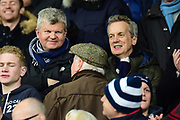 TV personalities Adrian Chiles and Frank Skinner in the crowd during the Premier League match between West Bromwich Albion and Burnley at The Hawthorns, West Bromwich, England on 31 March 2018. Picture by Dennis Goodwin.