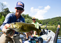 Fly fishing for smallmouth bass in the ozarks