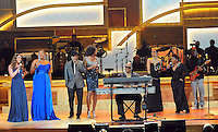 (l-r)Joss Stone, Queen Latifah, Ne-Yo, Yolanda Adams, Stevie Wonder, Monica, Anita Baker and Wyclef Jean perform at the 2nd Annual BET Honors