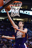 Mar 9, 2016; Phoenix, AZ, USA; Phoenix Suns forward Jon Leuer (30) lays up the ball in the first half of the game against the New York Knicks at Talking Stick Resort Arena. Mandatory Credit: Jennifer Stewart-USA TODAY Sports