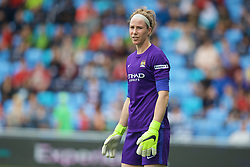 MANCHESTER, ENGLAND - Sunday, August 30, 2015: Manchester City's goalkeeper Karen Bardsley during the League Cup Group 2 match against Liverpool at the Academy Stadium. (Pic by Paul Currie/Propaganda)