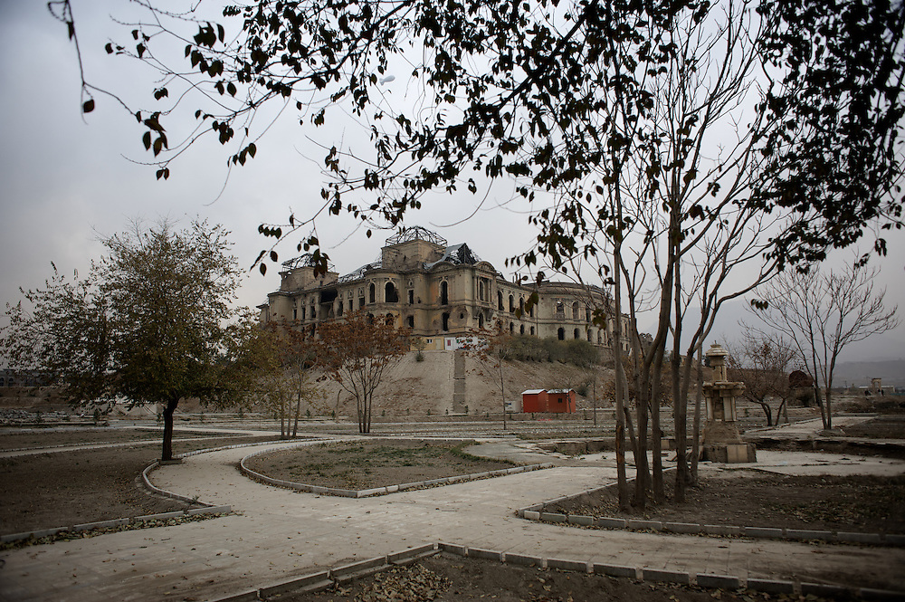 November 16, 2012 - Kabul, Afghanistan: View of Darul Aman palace in Kabul, which was destroyed during the civil war of the early 1990s. (Paulo Nunes dos Santos/Polaris)