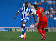 Brighton defender full back Gaetan Bong during the Sky Bet Championship match between Brighton and Hove Albion and Blackburn Rovers at the American Express Community Stadium, Brighton and Hove, England on 22 August 2015. Photo by Bennett Dean.