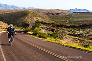 Road bicycling in Big Bend National Park, Texas, USA model released