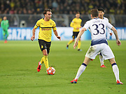 Mario Götze of Borussia Dortmund with the ball during the Champions League round of 16, leg 2 of 2 match between Borussia Dortmund and Tottenham Hotspur at Signal Iduna Park, Dortmund, Germany on 5 March 2019.