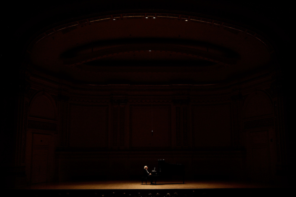 Pianist Richard Goode performs at Carnegie Hall on May 5, 2009 in New York city. photo by Joe Kohen for The New York Times