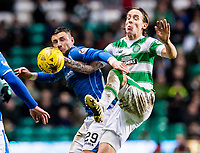 23/01/16 LADBROKES PREMIERSHIP<br /> CELTIC v ST JOHNSTONE<br /> CELTIC PARK - GLASGOW<br /> St Johnstone's Michael O'Halloran (left) holds off Stefan Johansen