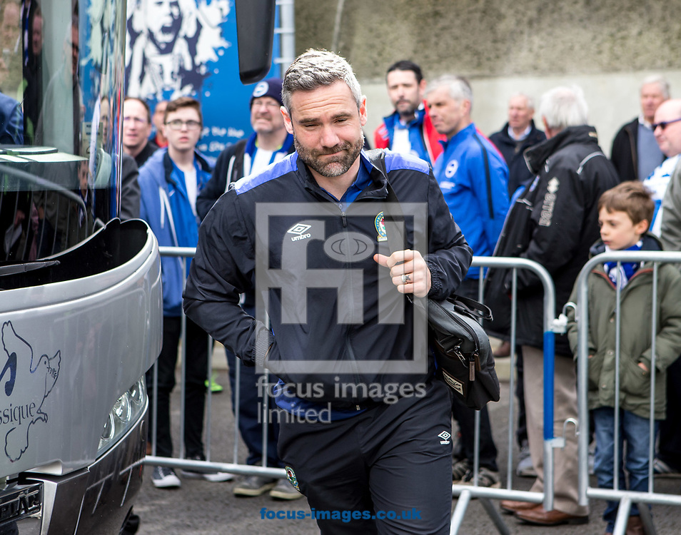 David Dunn coach of Blackburn Rovers arrives during the Sky Bet Championship match at the American Express Community Stadium, Brighton and Hove<br /> Picture by Liam McAvoy/Focus Images Ltd 07413 543156<br /> 01/04/2017