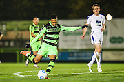 Forest Green Rovers Keanu Marsh-Brown(7) shoots at goal misses the target during the Vanarama National League match between Forest Green Rovers and Tranmere Rovers at the New Lawn, Forest Green, United Kingdom on 22 November 2016. Photo by Shane Healey.