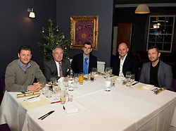 Steve Cotterill, Keith Burt, Andreas Kapoulas, Andy Robinson, Sean Holley - Photo mandatory by-line: Joe Meredith/JMP - Mobile: 07966 386802 - 03/12/2014 - Bristol Sport Christmas Lunch - Bristol - Gold Brick House