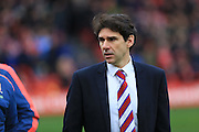 Aitor Karanka during the Sky Bet Championship match between Bristol City and Middlesbrough at Ashton Gate, Bristol, England on 16 January 2016. Photo by Daniel Youngs.