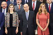 121615 Queen Letizia attends audiences at Zarzuela Palace