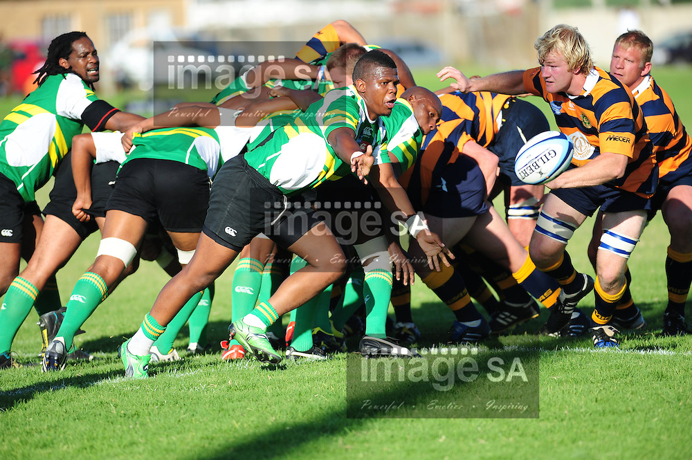 PORT ELIZABETH, SOUTH AFRICA - SATURDAY MARCH 2 2013,  during match 20 of the Cell C Community Cup rugby match between African Bombers and Pretoria Police held at the Zwide stadium..Photo by Iky Plakonouris/ImageSA