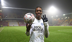 Ivan Toney of Peterborough United with the match ball after scoring a hat-trick - Mandatory by-line: Joe Dent/JMP - 11/12/2018 - FOOTBALL - Northern Commercials Stadium - Bradford, England - Bradford City v Peterborough United - Emirates FA Cup second round proper
