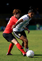 International Women's Friendly Matchs 2019 / <br /> Cup of Nations Tournament 2019 - <br /> Argentina vs South Korea 0-5 ( Leichhardt Oval Stadium - Sidney,Australia ) - <br /> Florencia Soledad Jaimes of Argentina (R) ,challenges with Moon Mira of South Korea (L)
