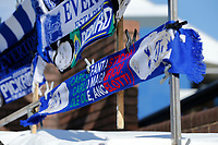 Football - 2019 / 2020 Premier League - Everton vs. Manchester United<br /> <br /> Everton scarves outside the ground before today's game, at Goodison Park.<br /> <br /> COLORSPORT/ALAN MARTIN