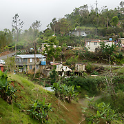 NOVEMBER 17, 2017&ndash;MARICAO, PUERTO RICO&mdash;<br /> A partially Hurricane Maria damaged community in the western  mountain town of Maricao.<br /> (Photo by Angel Valentin)