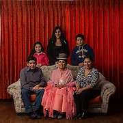 Claudia, reyna del Carnaval 2014 in the living room of her home surrounded by her family<br /> <br /> Claudia, reyna del Carnaval 2014 en el salon de su casa rodeada por su familia