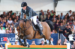 20.09.2014, Magna Racino, Ebreichsdorf, AUT, Vienna Masters 2014, Global Champions Tour Grand Prix, im Bild Cameron Hanley auf Antello Z (IRL) // during Vienna Masters 2014 Global Champions Tour Grand Prix at the Magna Racino, Ebreichsdorf, Austria on 2014/09/20. EXPA Pictures © 2014, PhotoCredit: EXPA/ Thomas Haumer
