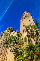 California Tower, Museum of Man, Balboa Park, San Diego, California USA.