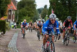 Peloton with rider of National Team Italy during the Holland Ladies Tour at the mountain sprint, Zeddam, Gelderland, The Netherlands, 1 September 2015.<br /> Photo: Pim Nijland / PelotonPhotos.com