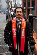 Seoul/South Korea, Republic Korea, KOR, 25.12.2009: Christian preacher on the streets of the Korean capital Seoul.