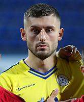 PODGORICA, MONTENEGRO - JUNE 07: Arber Zeneli of Kosovo before the 2020 UEFA European Championships group A qualifying match between Montenegro and Kosovo at Podgorica City Stadium on June 7, 2019 in Podgorica, Montenegro MB Media