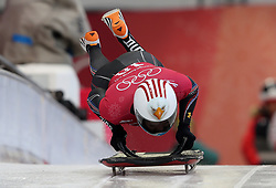 USA's Katie Uhlaender during the Women's Skeleton practice on day three of the PyeongChang 2018 Winter Olympic Games in South Korea. PRESS ASSOCIATION Photo. Picture date: Monday February 12, 2018. See PA story OLYMPICS Skeleton. Photo credit should read: David Davies/PA Wire. RESTRICTIONS: Editorial use only. No commercial use.