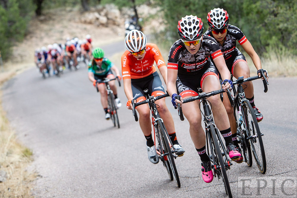 SILVERY CITY, NM - APRIL 22: Chloe Dygert (Team Twenty 20/Sho-Air) at the front on stage 5 of the Tour of The Gila on April 22, 2018 in Silver City, New Mexico. (Photo by Jonathan Devich/Epicimages.us)