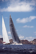 Visione sailing in the St. Barth's Bucket Regatta, day two.