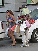 14.JUNE.2014. MARBELLA<br /> <br /> CODE - MAG<br /> <br /> TOWIES HARRY DERBRIDGE AND GRACE ANDREWS SEEN OUT SHOPPING IN MARBELLA WHEN THEY WHERE CHASED BY A BAG MAN TRYING TO SELL THEM A FAKE BAG, GRACE AND HARRY WHERE SEEN RUNNING TO A TAXI TO GET AWAY BUT HE WAS STILL TRYING TO SELL THEM A BAG THROUGH THE WINDOW<br /> <br /> BYLINE: EDBIMAGEARCHIVE.CO.UK<br /> <br /> *THIS IMAGE IS STRICTLY FOR UK NEWSPAPERS AND MAGAZINES ONLY*<br /> *FOR WORLD WIDE SALES AND WEB USE PLEASE CONTACT EDBIMAGEARCHIVE - 0208 954 5968*
